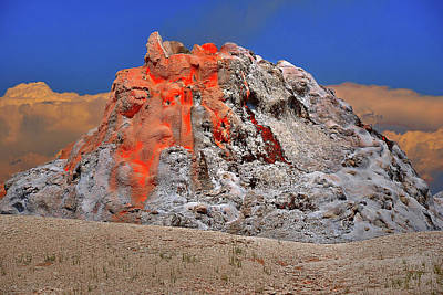 Photograph - White Dome Geyser by Richard J Cassato