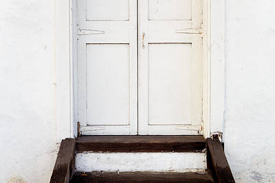Photograph - White Door by Derek Dean