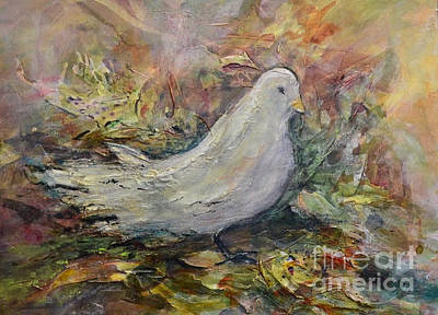 Painting - White Dove by Ellen Anthony