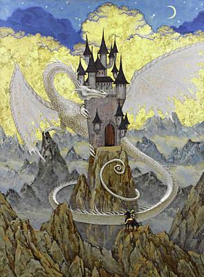 Amazing Stories Painting -  White Dragon by Natalya Mosyagina