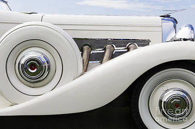 Photograph - White Duesenberg by Dennis Hedberg