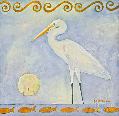 Painting - White Egret by Sandra Neumann Wilderman