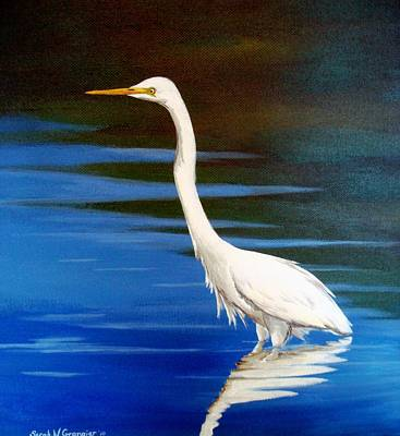 Painting - White Egret by Sarah Grangier