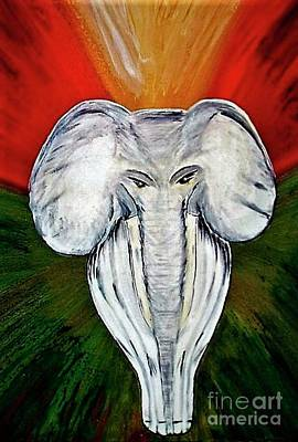 Painting - White Elephant by Crystal Schaan