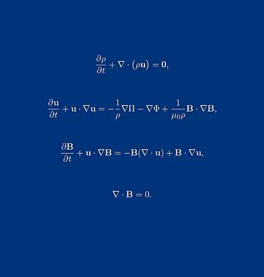 White Equation Art Print