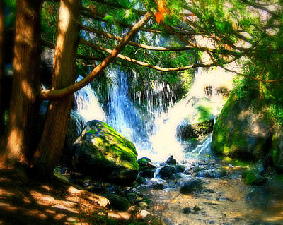 White Falls Art Print by Perry Webster