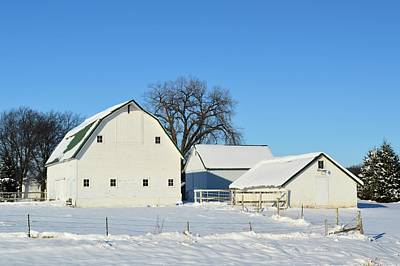 Photograph - White Farm by Bonfire Photography