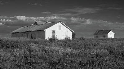 Photograph - White Farm Buildings by Scott Kingery