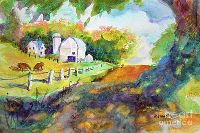 Painting - White Farmyard 2004 by Kathy Braud