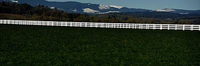 Jerry Sodorff Royalty-Free and Rights-Managed Images - White Fence by Jerry Sodorff