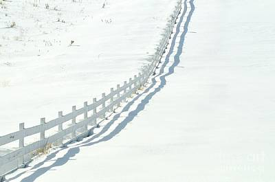 Photograph - White Fence by Robert Nowland