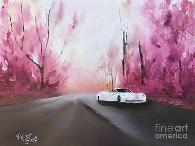 White Ferrari Art Print