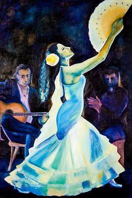 Painting - White Flamenco by Jenny anne Morrison