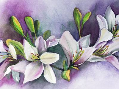 Painting - White Flower by Marsha Woods