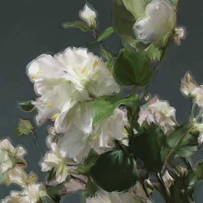 White Flowers 103 Art Print