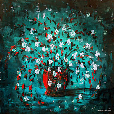 Painting - White Flowers 2 by Gina De Gorna