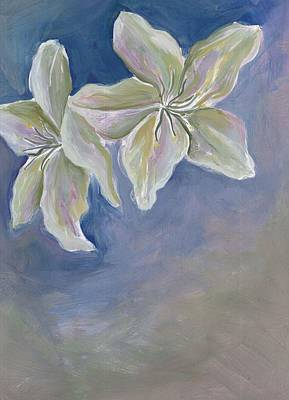 Painting - White Flowers by Cherie Sexsmith