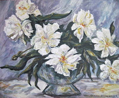 Painting - White Flowers by Claudia Croneberger