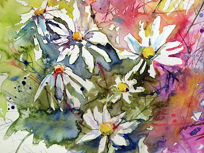Painting - White Flowers II Cd by Kovacs Anna Brigitta