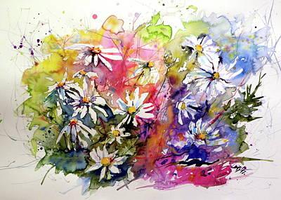 Painting - White Flowers II by Kovacs Anna Brigitta