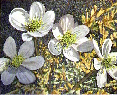 Painting - White Flowers by Jill Annette Johnson