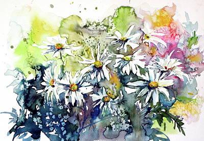 Painting - White Flowers by Kovacs Anna Brigitta