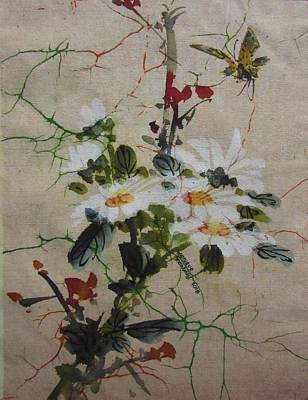 Painting - White Flowers by Monique Montney