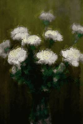White Painting - White Flowers Of Hope by The Art Of Marilyn Ridoutt-Greene