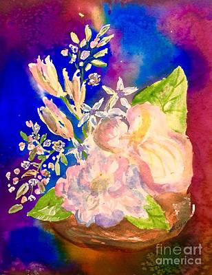 Painting - White Flowers Still Life  by Ellen Levinson