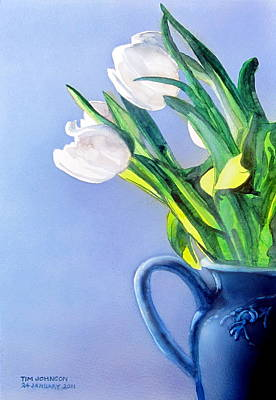 Painting - White Flowers by Tim Johnson