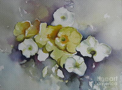 Painting - White Flowers, Yellow Flowers... by Elena Oleniuc