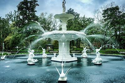 Photograph - White Fountain by Douglas Barnett