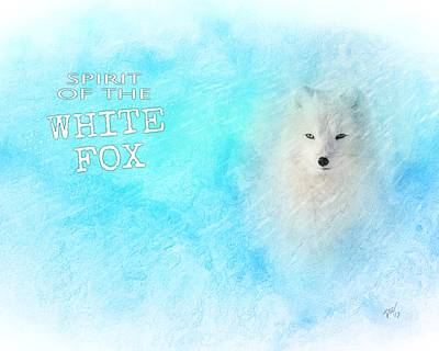 Digital Art - White Fox Spirit by John Wills