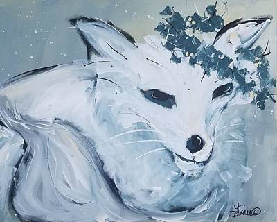 Painting - White Fox by Terri Einer