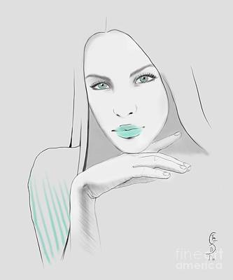 Disobedient Drawing - White by Gabriela Tasiro