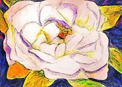 Painting - White Gardenia by Anne Sands