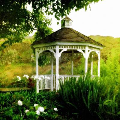 Photograph - White Gazebo by Patricia Strand