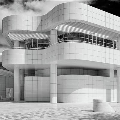 Photograph - White - Getty Center by James Howe