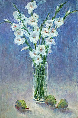 Painting - White Gladiolas by Jill Musser