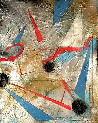 Joan Raspo Wall Art - Painting - String Theory by Joan Raspo