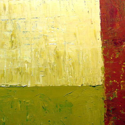 Grunge Painting - White Green And Red by Michelle Calkins