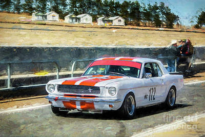 Photograph - White Group N Mustang by Stuart Row