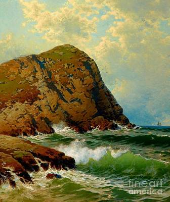 Painting - White Head Monhegan Maine 1890 by Peter Gumaer Ogden Collection