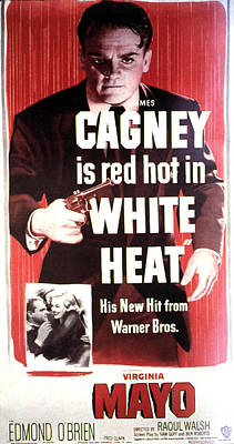1940s Poster Art Photograph - White Heat, James Cagney, Virginia by Everett