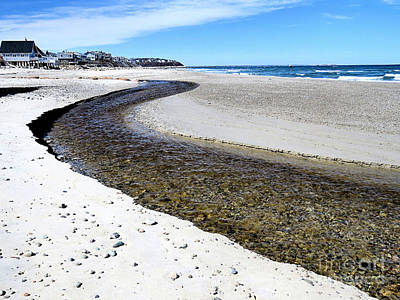 Photograph - White Horse Beach Stream by Janice Drew