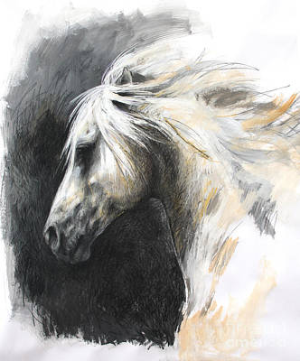 Painting - White Horse by Meridith Martens