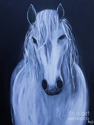Painting - White Horse by Stacey Zimmerman
