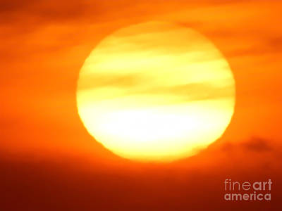 Painting - White Hot Sun  by Expressionistart studio Priscilla Batzell