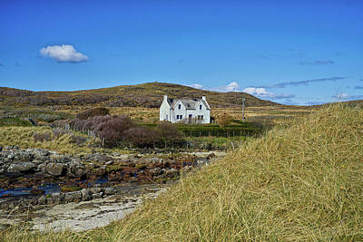 Photograph - White House 2 Ardnamurchan by Christopher Rees