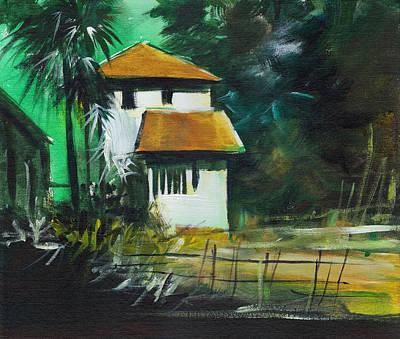 Beautiful Scenery Painting - White House by Anil Nene